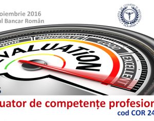 """Curs: """"Evaluator de Competente Profesionale"""" 10 noiembrie – 25 noiembrie"""