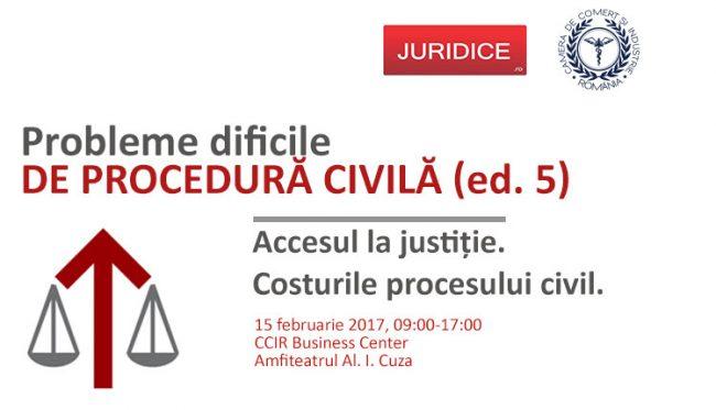 CURS – Probleme dificile de Procedură Civilă, 15 februarie 2017