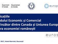 Implicațiile Acordului  CETA asupra economiei românești (28 aprilie 2017)