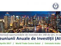 Investițiile internaționale, calea către competitivitate și dezvoltare (2-4 aprilie 2017)