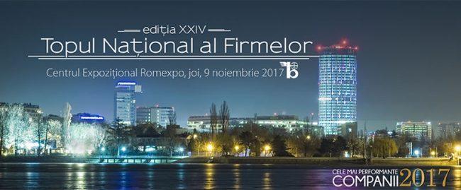 Gala Topul Național al Firmelor 2017, ediția a XXIV-a
