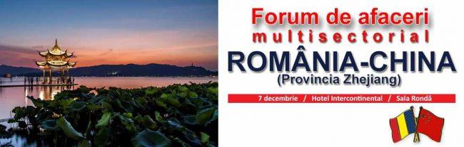 Forum de afaceri și investiții România – Zhejiang,China