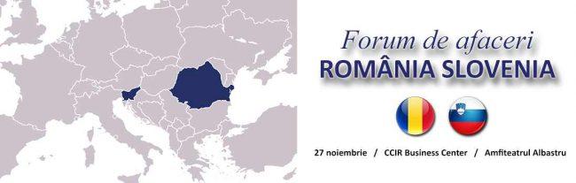 Forum de afaceri România-Slovenia