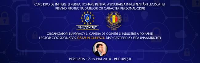 Curs DPO – asigurarea implementării legislației privind protecția datelor cu caracter personal (GDPR)
